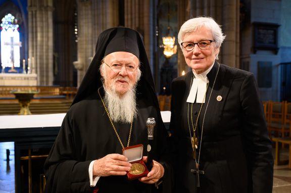 Patriarcha Ekumeniczny Konstantynopola Bartłomiej i abp Uppsali Antje Jackelen