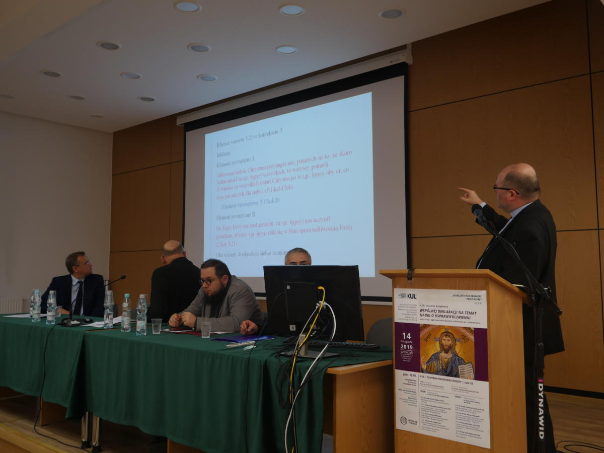 konferencja na KUL - 20-lecie Wspólnej Deklaracji o Usprawiedliwieniu