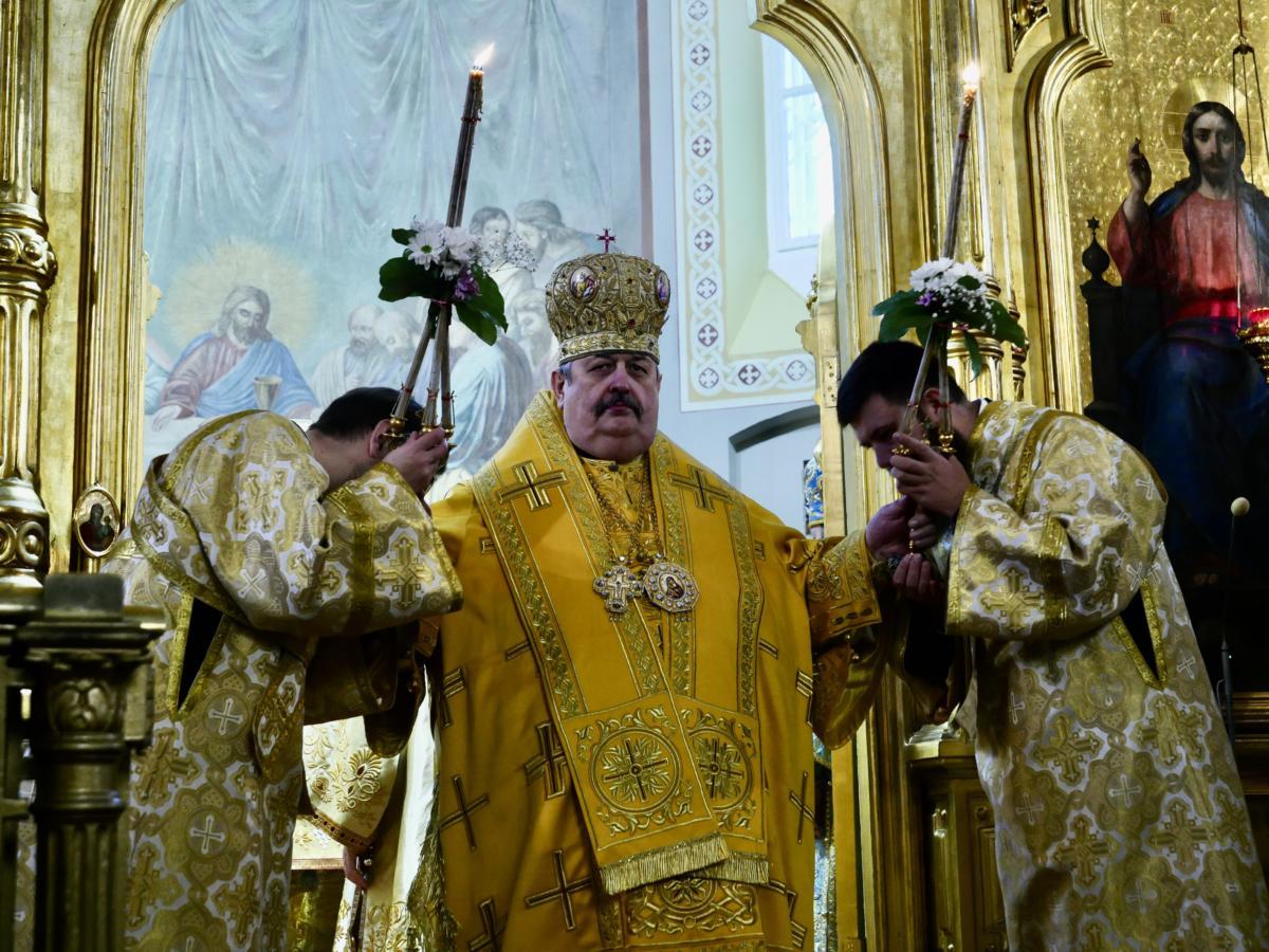 Abp lubelsko-chełmski Abel (Popławski) podczas 40-lecia chirotonii biskupiej metropolity Sawy (Hrycuniaka)