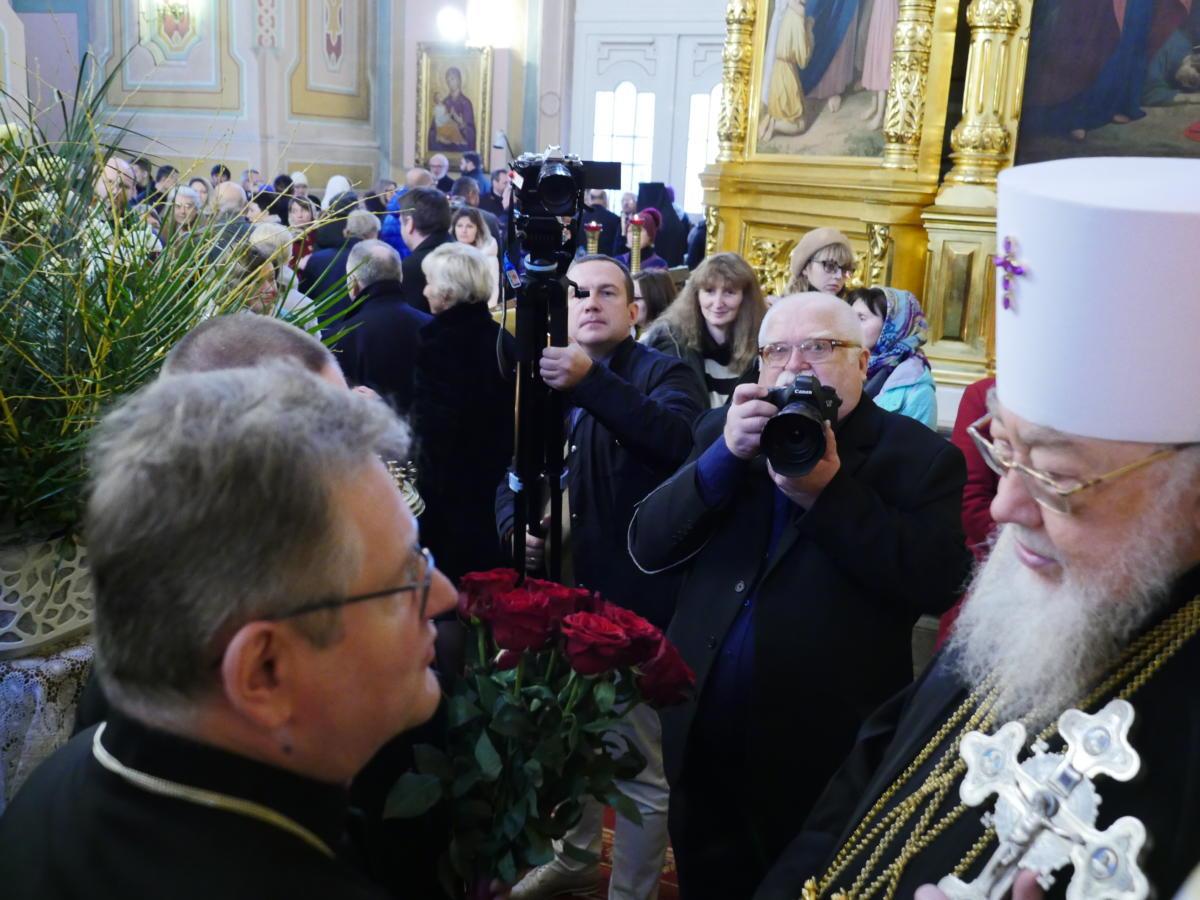 Bp Jerzy Samiec składa życzenia metropolicie Sawie z okazji 40-lecia chirotonii biskupiej
