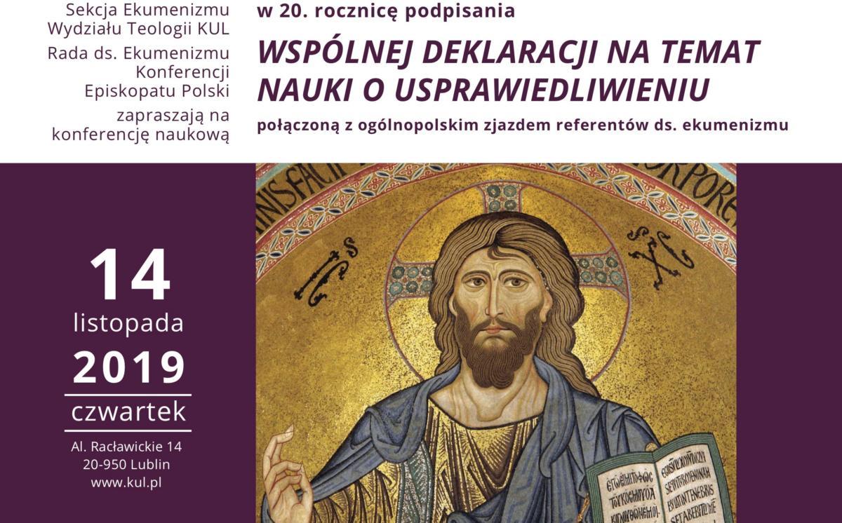 konferencja ekumeniczna w Lublinie dotycząca 20. rocznicy Wspólnej Deklaracji o Usprawiedliwieniu