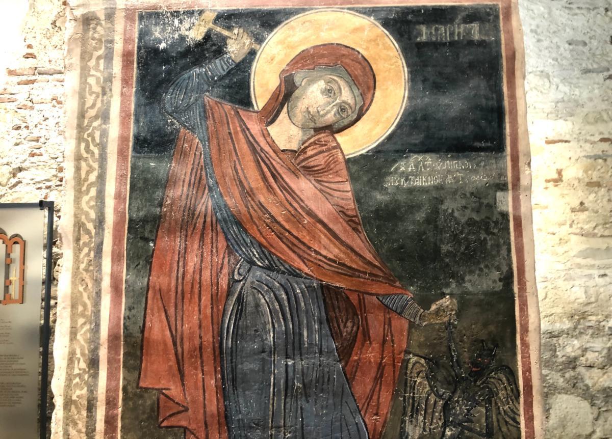 św. Marina - fresk z b. cerkwi w Nesebarze