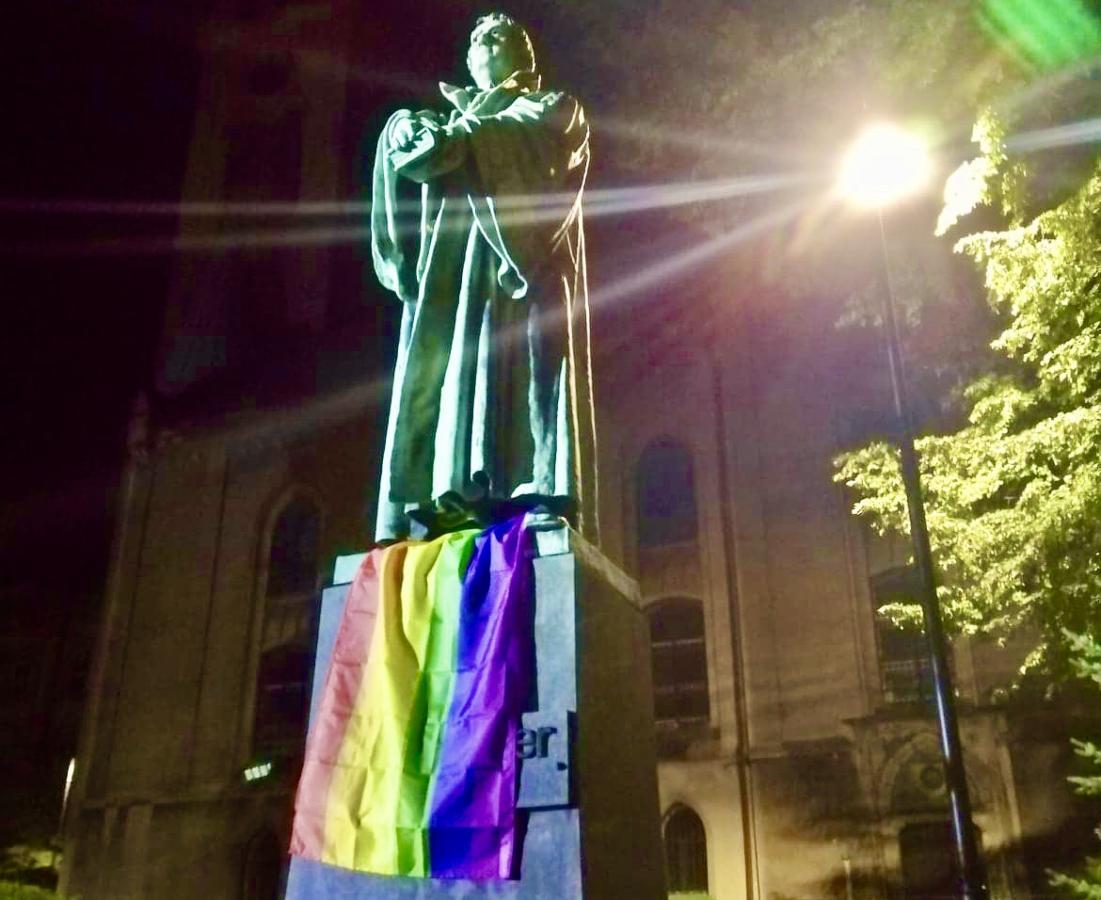 pomnik ks. Marcina Lutra w Bielsku-Białej