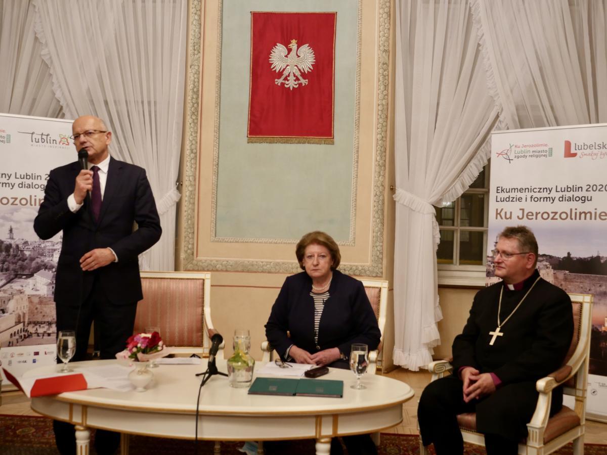 przemawia prezydent Lublina dr Krzysztof Żuk